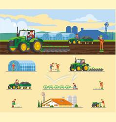 Colorful farming concept vector