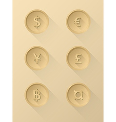 Currency symbol icons vector