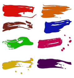 Dabs of paint vector image vector image