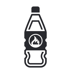 dangerous bottle icon vector image