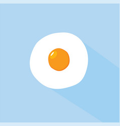 Flat egg design vector