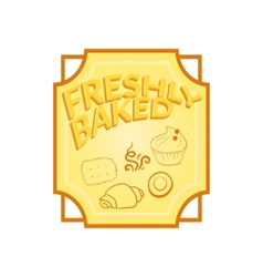 Fresh baked label vector image vector image