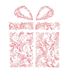 Gift box made of floral vector