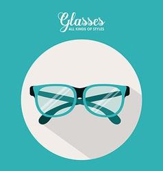 Glasses design vector image vector image