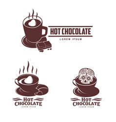 hot chocolate logo template vector image vector image