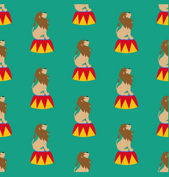 lion in circus pattern vector image