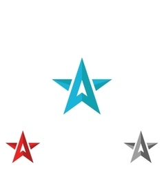 Logo star form upward arrows creative shape vector image