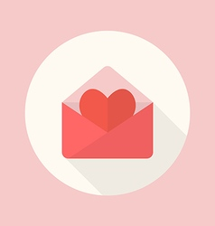 Love letter flat icon vector image vector image