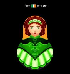Matryoshka Ireland vector image vector image