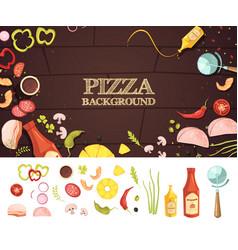 Pizza cartoon style concept vector