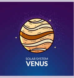 planet venus vector image