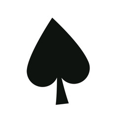 poker card sign spade ace play icon vector image