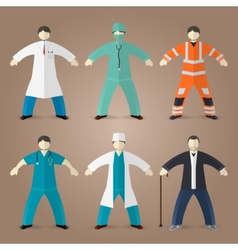 Professions set of medical doctors vector image vector image
