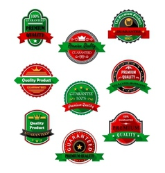 Quality guarantee labels in flat style vector image vector image