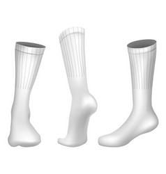 Realistic football socks white template vector