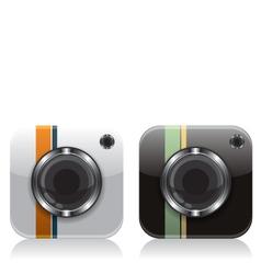 Retro camera icons vector image