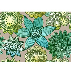 seamless floral pattern with fancy flowers vector image
