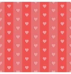 Seamless retro pattern hearts vector image vector image