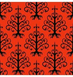 Suzani ethnic pattern with kazakh motifs vector