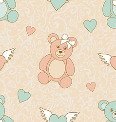 wedding teddies vector image vector image