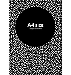 White Halftone Dots Frame on Black Background vector image vector image