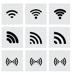 wireless icon set vector image vector image