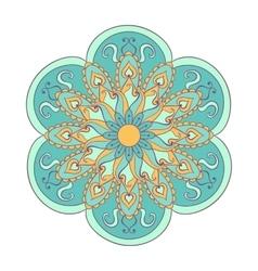 Zentangle stylized color Arabic Indian Mandala vector image