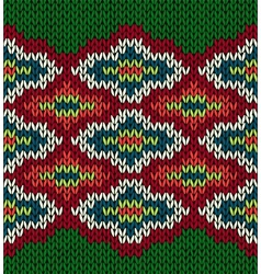 Knit seamless jacquard ornament pattern vector