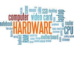 Computer Hardware Word Cloud Bubble Tag Tree vector image