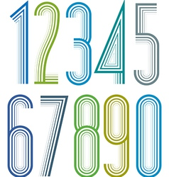 Geometric bright elegant striped numbers with vector