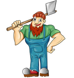 Lumberjack cartoon isolated vector