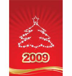 2009 gold year vector image