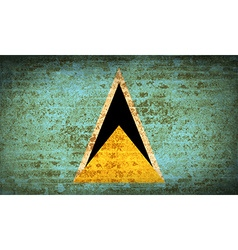 Flags saint lucia with dirty paper texture vector