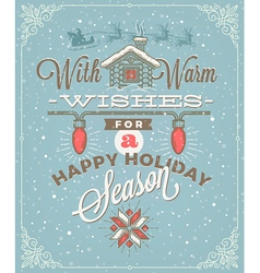 Christmas type design with holidays decoration vector
