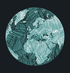 Earth sketch vector
