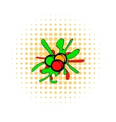 Paintball balls comics icon vector