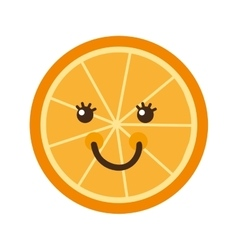 Citrus fruit character isolated icon design vector