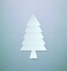 Abstract Paper Chrismas Tree vector image vector image