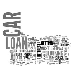 Are you in the market for a car loan text word vector
