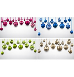 Backgrounds with colorful christmas balls vector image vector image