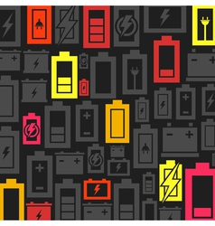 Battery a background vector image vector image