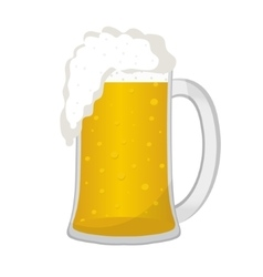 Beer in a glass mug icon flat style Isolated on vector image