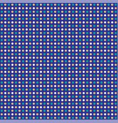 Blue gold glitter polka dot pattern vector