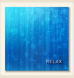 Blue shiny rain Abstract water background design vector image vector image