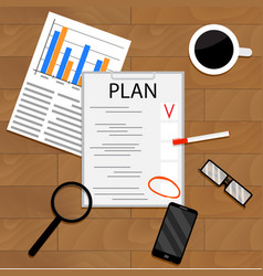 Business economic planning vector