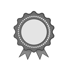 Certified quality label icon monochrome style vector
