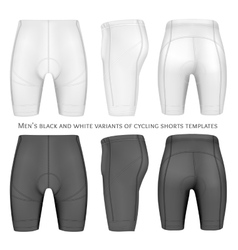 Cycling shorts for men vector