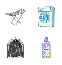 Dryer washing machine clean clothes bleach dry vector