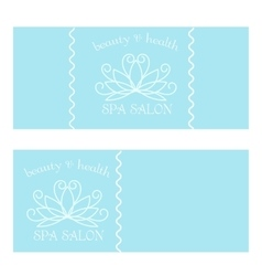 Dsign for spa vector image vector image