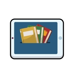 Ebook tablet online reading internet icon vector